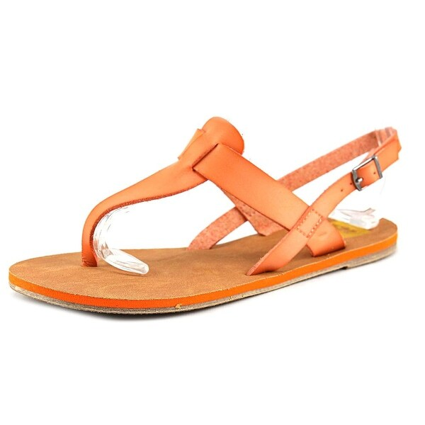 Cape Robbin Alma-FB-9 Women  Open-Toe Synthetic Orange Slingback Heel