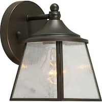 Forte Lighting 1121-01 1 Light Outdoor Wall Sconce with Lantern Shade