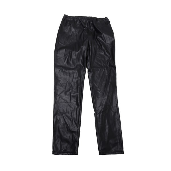 4575a4a4eade02 Shop Lauren Ralph Lauren Plus Size Black Faux-Leather Leggings 18W ...