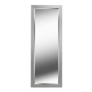 """Kenroy Home 60358  Drake 77.19"""" x 29.19"""" Rectangular Beveled Wall Mounted Mirror - Brushed Steel"""