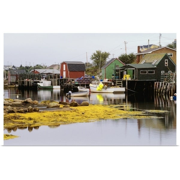 """Fishing Village of West Dover, Newfoundland, Canada"" Poster Print"