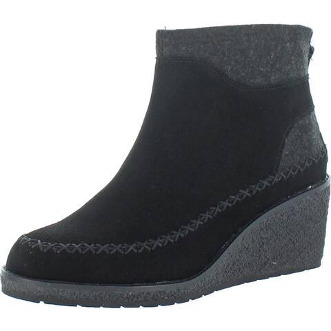 Pendleton Women's Arago Wedge Waterproof Suede Memory Foam Ankle Booties