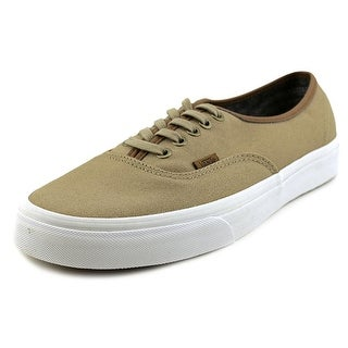Vans Authentic Men  Round Toe Canvas Brown Sneakers