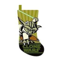 "Star Wars 19"" Yoda Clone Wars Christmas Stocking"