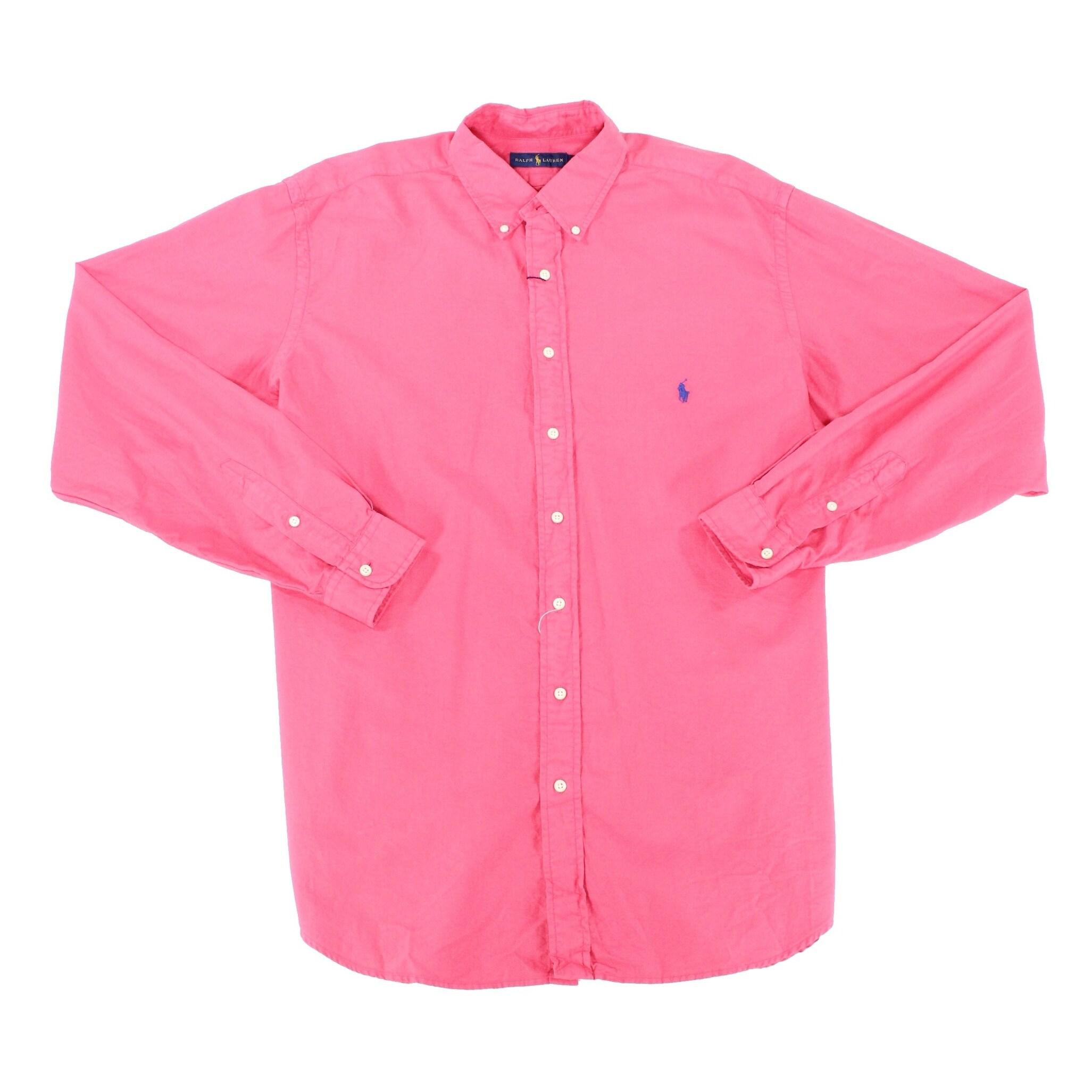 9cf2791d Polo Ralph Lauren NEW Tropic Pink Mens Size XLT Button Down Shirt