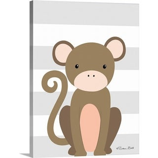 """Monkey Stripe"" Canvas Wall Art"