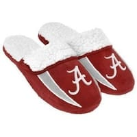 Alabama Crimson Tide Sherpa Lined Slippers Small
