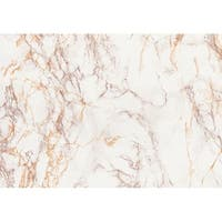 Brewster 346-0120 Brown And Gold Marble Adhesive Film - N/A