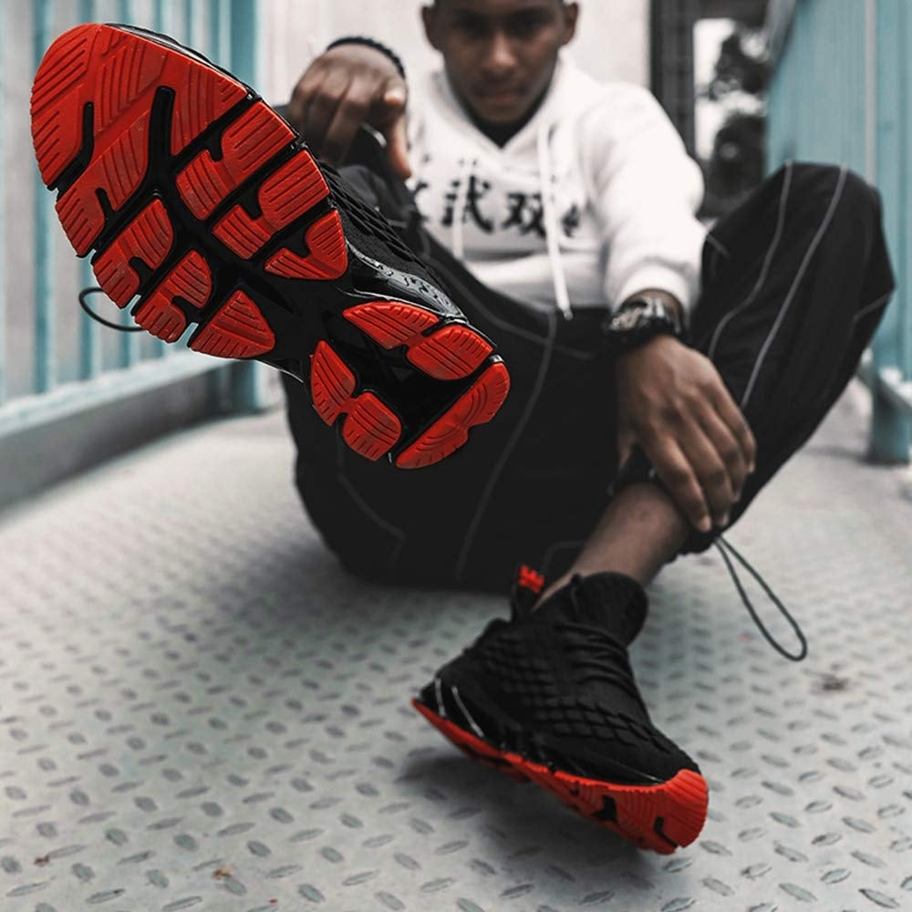 FUSHITON Mens Athletic Walking Blade Running Tennis Shoes Fashion Sneakers  - 9.5 - Overstock - 30793992
