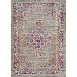 Surya GER2314-211710 Germili 3' x 8' Runner Synthetic Power Loomed Traditional A - Purple