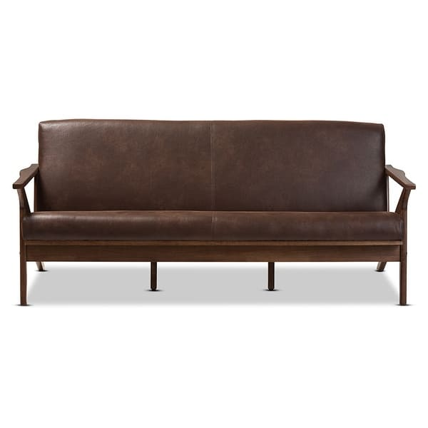 Dark Brown Distressed Faux Leather