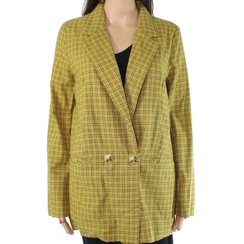 Lunik Women's Jacket Mustard Yellow Size Small S Double Breasted