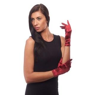 Beautiful Wrist Length Short Satin Gloves