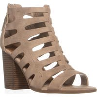 Indigo Rd. Perky Perforated Zip Up Sandals, Light Natural - 8.5 us