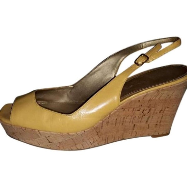 Marc Fisher Womens Fosteria Leather Open Toe Casual Platform Sandals - 7.5