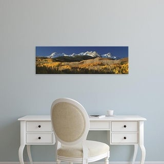 Easy Art Prints Panoramic Image 'Autumn Aspen Trees, Rocky Mountains, San Juan National Park, Colorado' Canvas Art