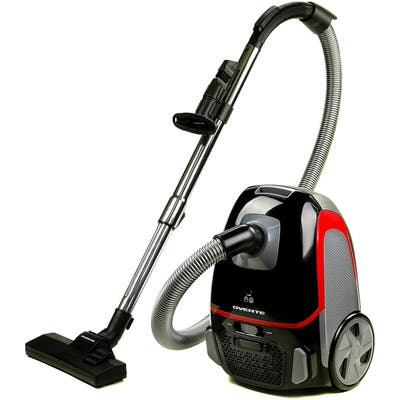Ovente Electric Bagged Lightweight Canister Vacuum Cleaner with 2 Speed Control , Black ST1600B