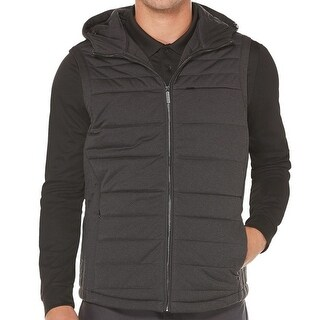 Perry Ellis NEW Gray Mens Size Medium M Vest Puffer Zipped Jacket