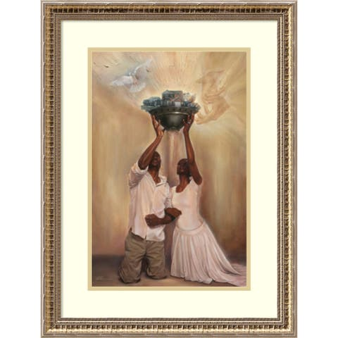 Framed Art Print 'Give It All to God' by WAK-Kevin A. Williams 20 x 26-inch