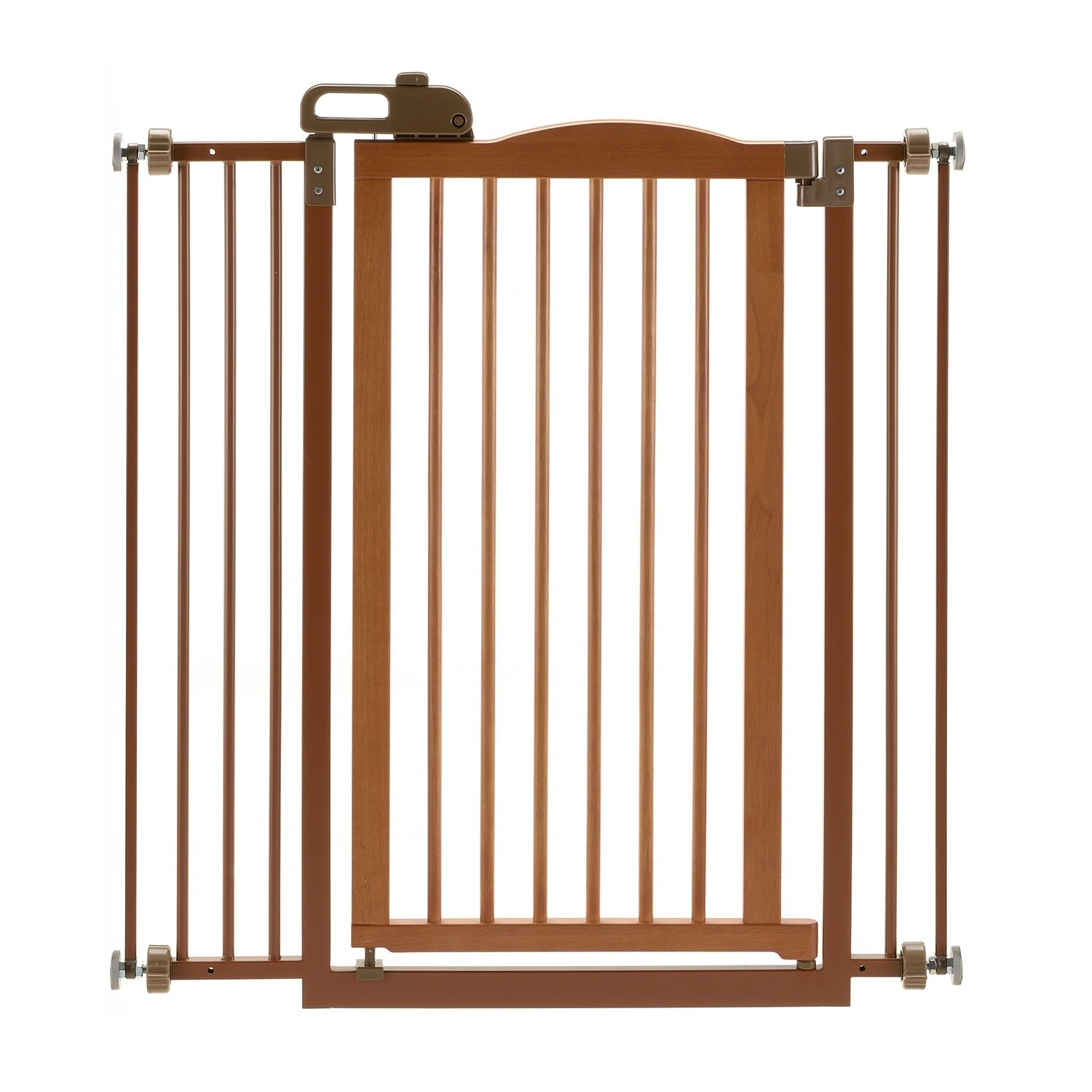 "43/"" x 31/"" Kidco Angle Mount Wood Safeway Wall Mounted Pet Gate Oak 28.5/"""