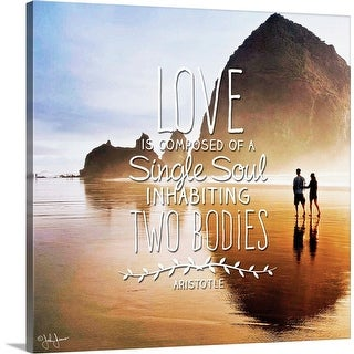 """Love Is"" Canvas Wall Art"