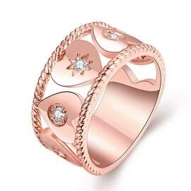 Mini Heart Rose Gold Ingrained Ring