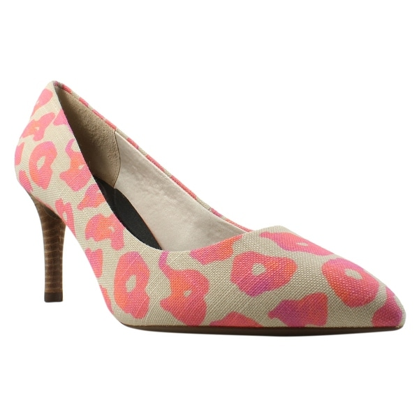 Shop Rockport Womens - Totalmotion75mmpointypump PinkLeopardCanvas Pumps Size 9.5 - Womens - 23019684 38a321
