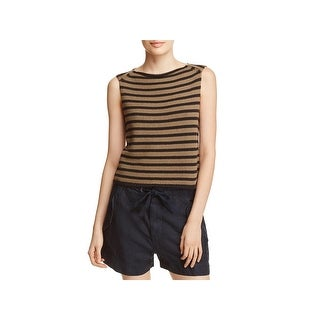 Vince Womens Tank Top Sweater Striped Boatneck - L