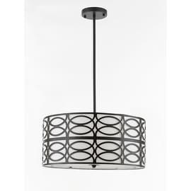 Indoor 5-light Black Pendant Chandelier Lighting Contemporary