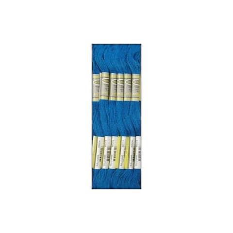 45314 sullivans emb floss 8 7yd dk electric blue
