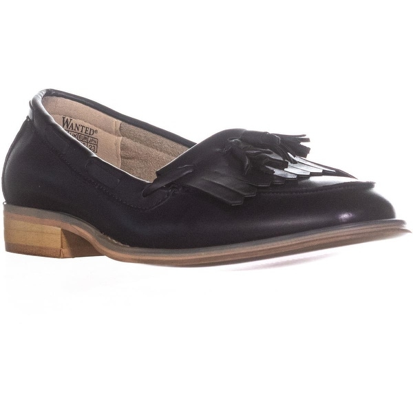 Wanted Charlie Kiltie Dress Loafers, Navy - 6 us / 36 eu