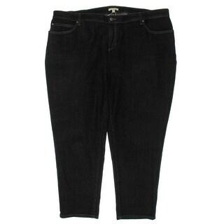 Eileen Fisher Womens Plus Boyfriend Jeans Whisker Wash Stretch Denim