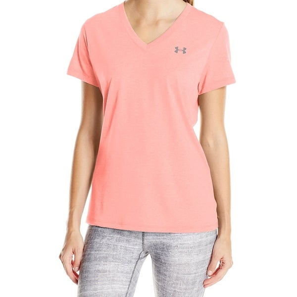 220760fe7b Under Armour NEW Pink Women Size Small S Short Sleeve V-Neck Tee T-Shirt