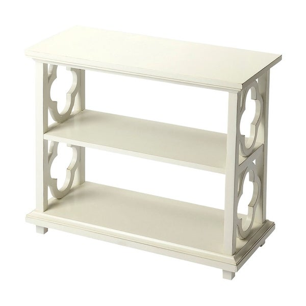 Offex Paloma Cottage White Rectangular Bookcase