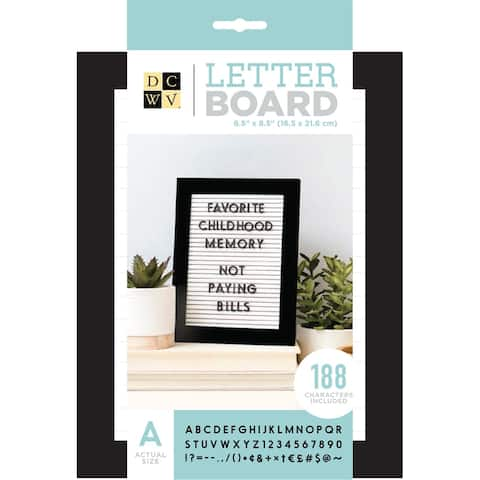 "Dcwv Standup Letterboard 5""X7""-White W/Black Frame"