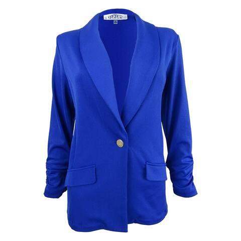 Kasper Women's Single-Button Shawl-Collar Blazer