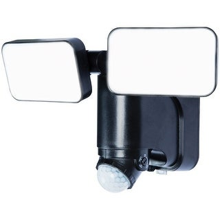 Heath Zenith HZ-7164-BK Solar Powered Motion Sensor Security LED Light, Black