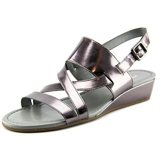 Franco Sarto Caliari Women Open-Toe Leather Slingback Sandal