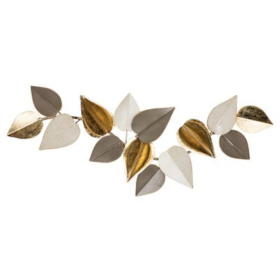 Stratton Home Decor Multi Metallic Leaves Centerpiece Wall Decor