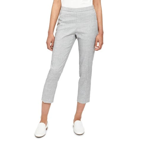 Theory Womens Ankle Pants Straight Leg Pull On - Eco Sharkskin