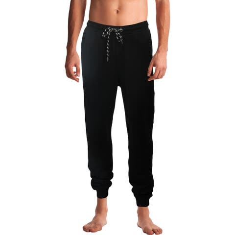 Just Cavalli Mens Jogger Pants Comfy Cozy - Black - L