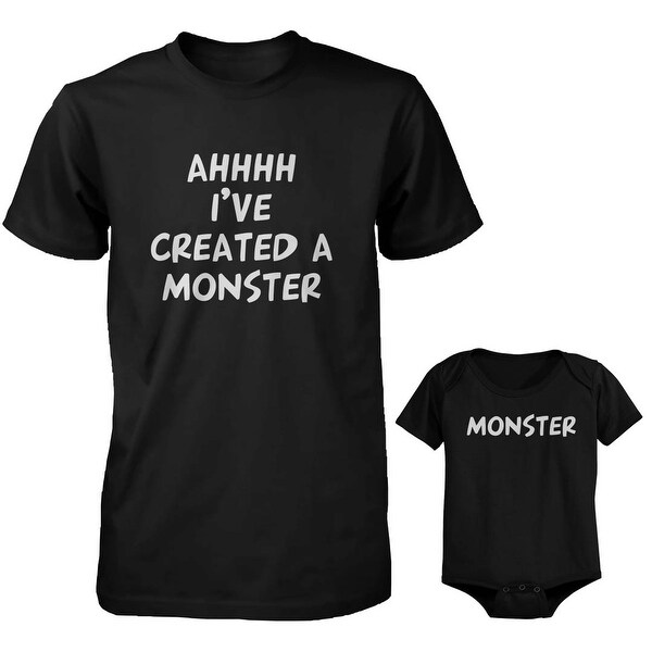 Created a Monster Dad and Baby Matching Shirt and Bodysuit
