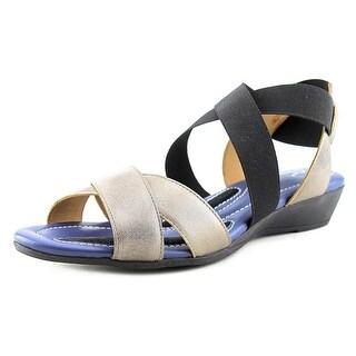 J. Renee Careen Women Open Toe Leather Gladiator Sandal