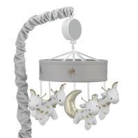 Lambs & Ivy Signature Goodnight Giraffe Moonbeams Gray/White/Gold Musical Baby Crib Mobile