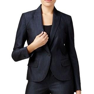 Link to Anne Klein Women Jacket Denim Blue Size 2 Triple Pocket Front 1 Button Similar Items in Women's Outerwear