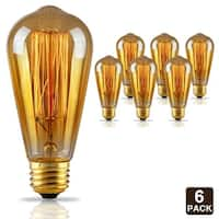 1 PACK/6 PACK ST64 Filament Vintage Light Bulb, Squirrel Cage Tungsten, 2500K