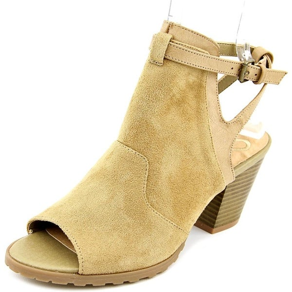 Madeline Western Women Open-Toe Synthetic Ankle Boot