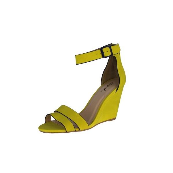 Qupid Women's Flix-28 Pumps Shoes Sandals - Lemon Lime - 6.5 b(m) us