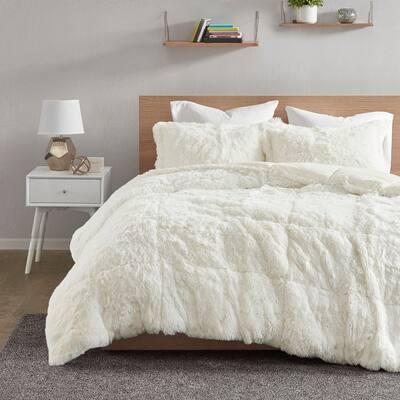 Leena Shaggy Faux Fur Comforter Set by Intelligent Design