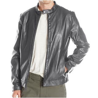 Calvin Klein NEW Gray Mens Size Large L Motorcycle Faux-Leather Jacket|https://ak1.ostkcdn.com/images/products/is/images/direct/44bafc9e70fd21e909867bbf73cdbd4bf34ee5ab/Calvin-Klein-NEW-Gray-Mens-Size-Large-L-Motorcycle-Faux-Leather-Jacket.jpg?impolicy=medium